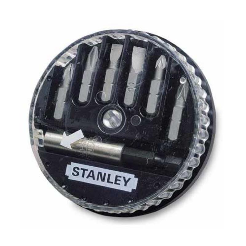 "Набор бит STANLEY с шестигранным хвостовиком 1/4"" L=25мм, 7 штук: Ph 0;1;2; шлиц 0, 6х4, 5; 1х5, 5; 1, 2х6, 5 мм."
