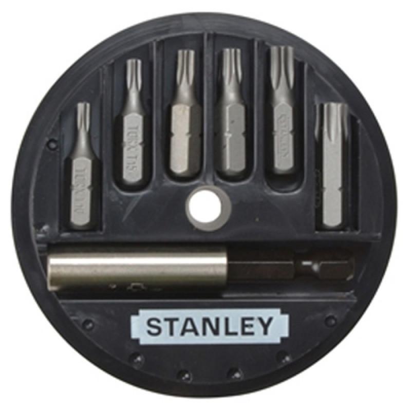 """набор бит STANLEY L= 25 мм с магнитным держателем 1/4"""" (7 предметов)."""