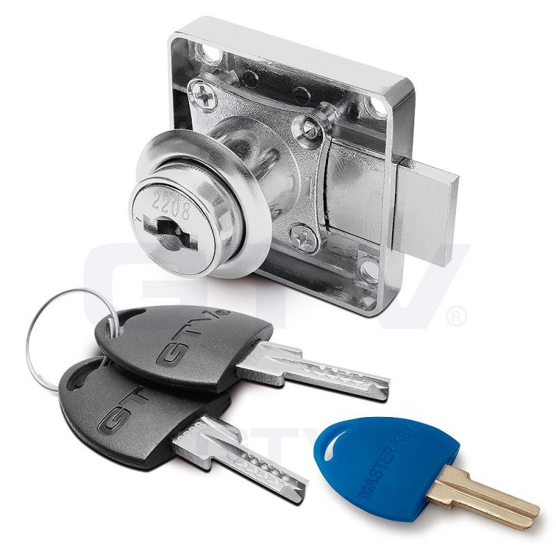 GTV Замок 138 хром цифровой+цифровой ключ