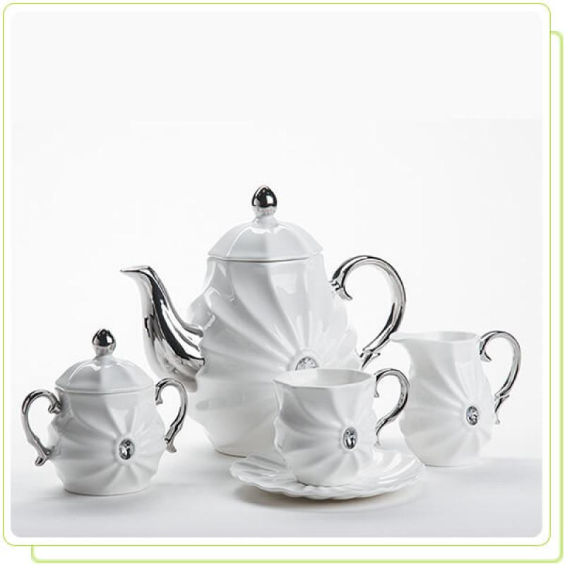 """MR-10047-17S Чайный набор 17 предметов """" Рококо """""""