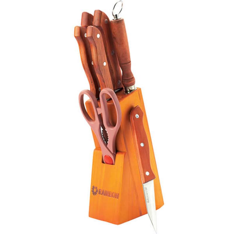 MR-1403 Ножи Rainbow (8 предметов деревянные ручки)