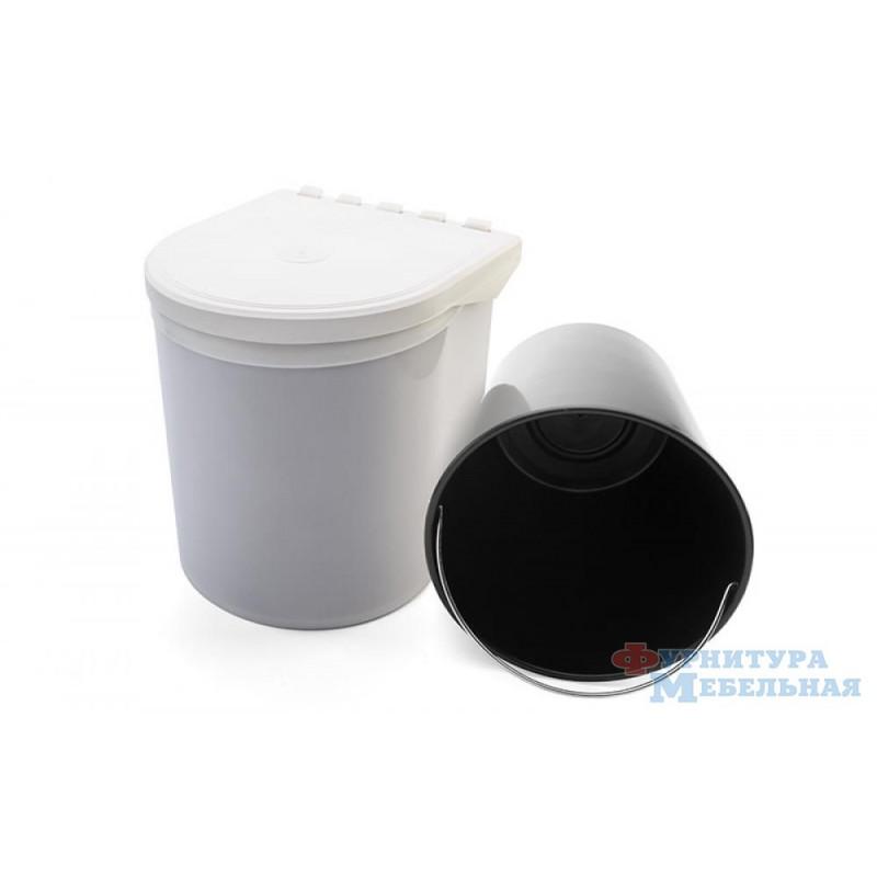 Ведро для мусора 5L белое 34-08