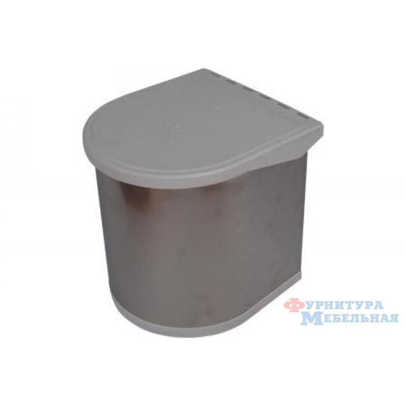 Ведро для мусора 5L нержавейка 34-09