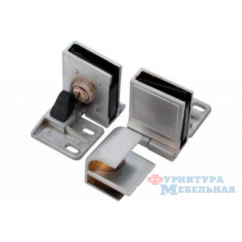 Комплект петель для стекл.дверей с ручкой 908 медь