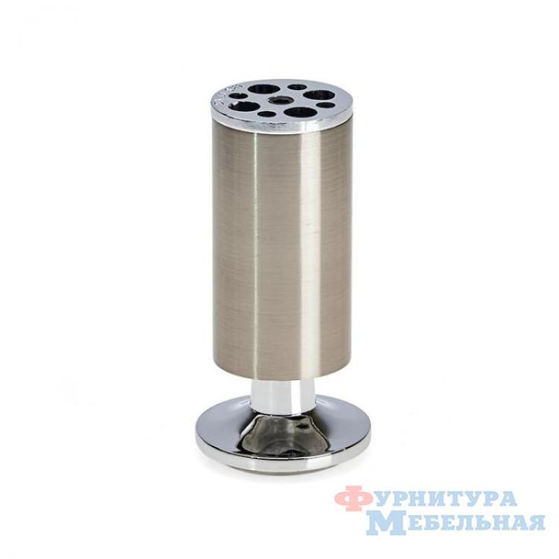 Нога А214 (100мм) серебро
