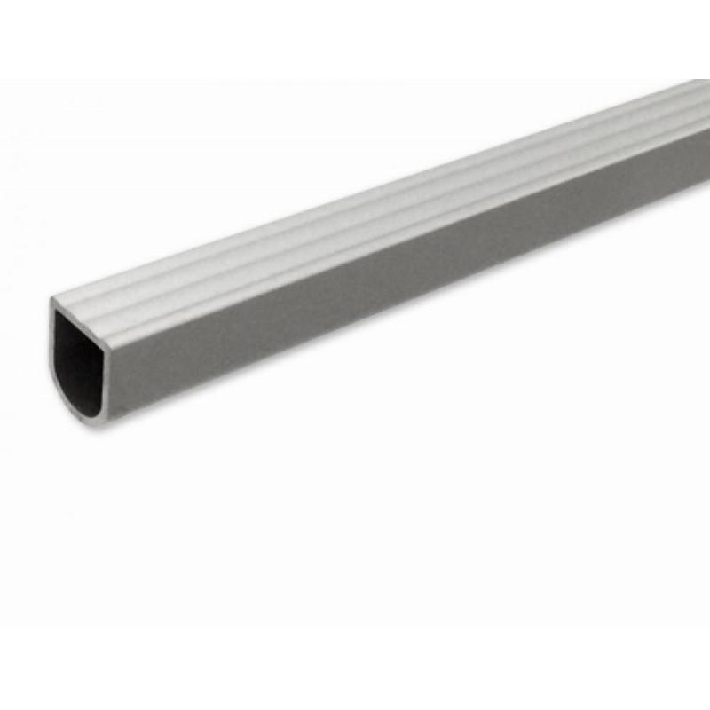 Ручка алюминиевая нарезная квадратная рифленая LFA 102 (L-2500 mm, 18*18)
