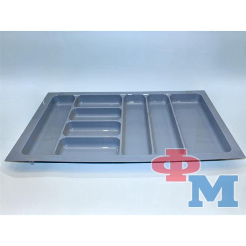 Лоток д/кухонных приборов (серый) 33-04