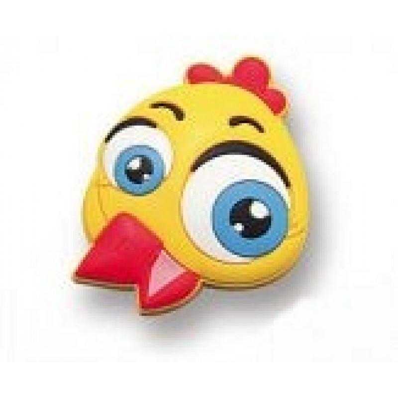 GTV Ручка детская резиновый цыпленок