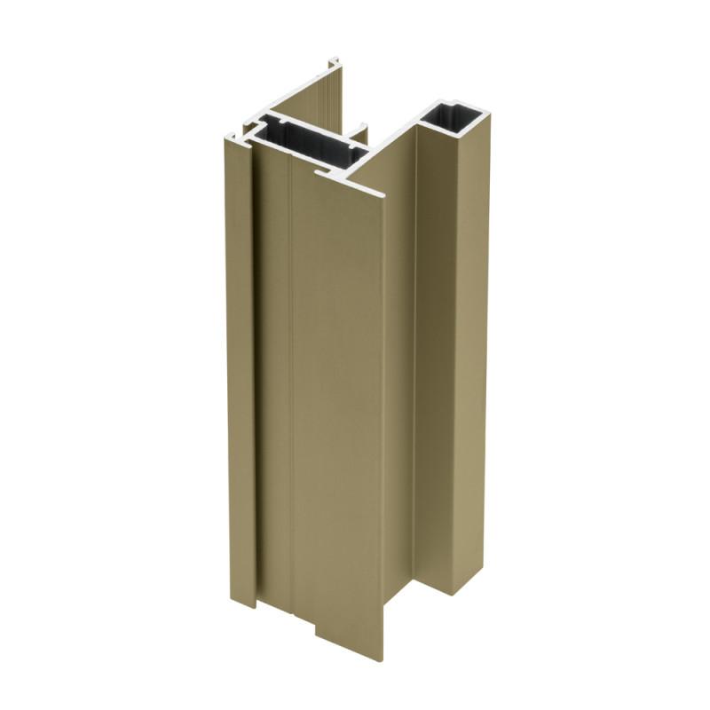 GTV Алюминиевый профиль-вертикальная рамка NERO 18/4 мм, L=2,7 m Шампань