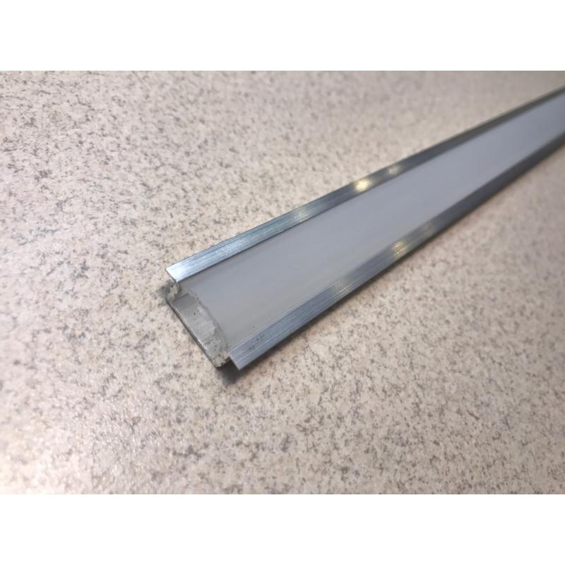 Профиль алюминевый врезной ЛПВ7 (анод) с рассеивателем