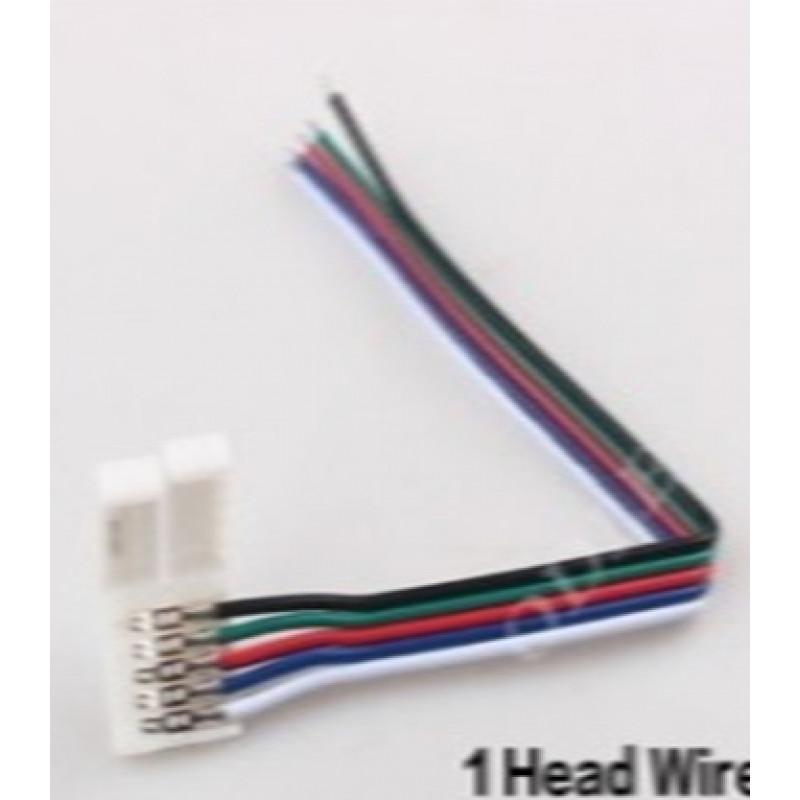 Коннектор 10мм зажим-провод 5pin (RGBW)