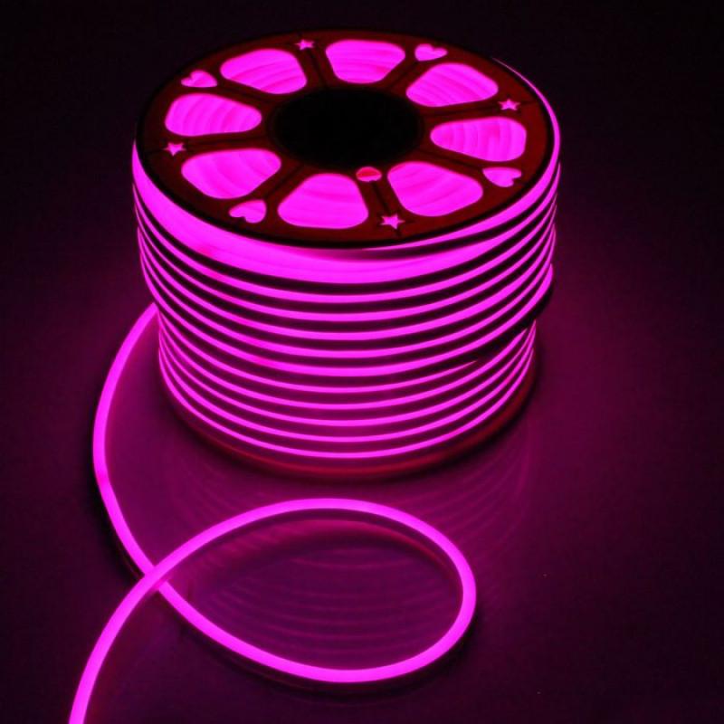 Лента BIOM NEON smd 3528 120 s/m 8W, IP65 Pink