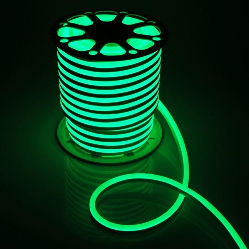 Лента BIOM NEON smd 3528 120 s/m 8W, IP65 Green