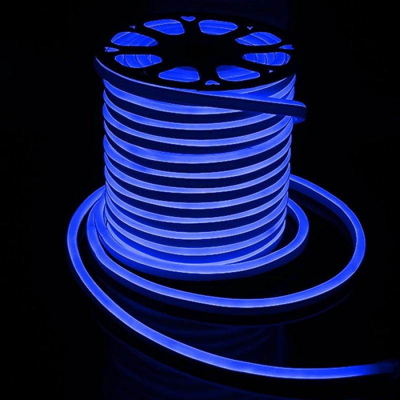 Лента BIOM NEON smd 3528 120 s/m 8W, IP65 Blue