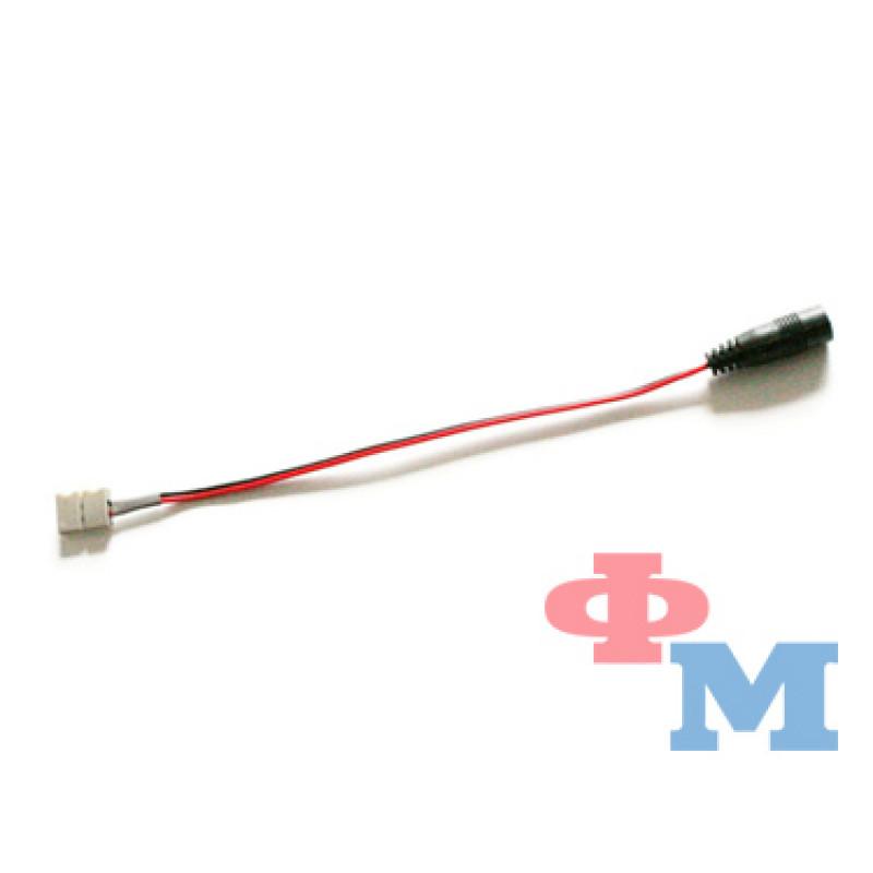 """Коннектор 10мм зажим - mini Jack """"мама"""" через провод, 15см"""