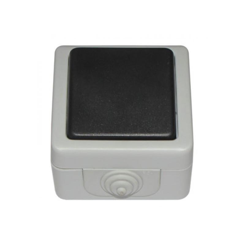 Выключатель накладной DEBUT серый