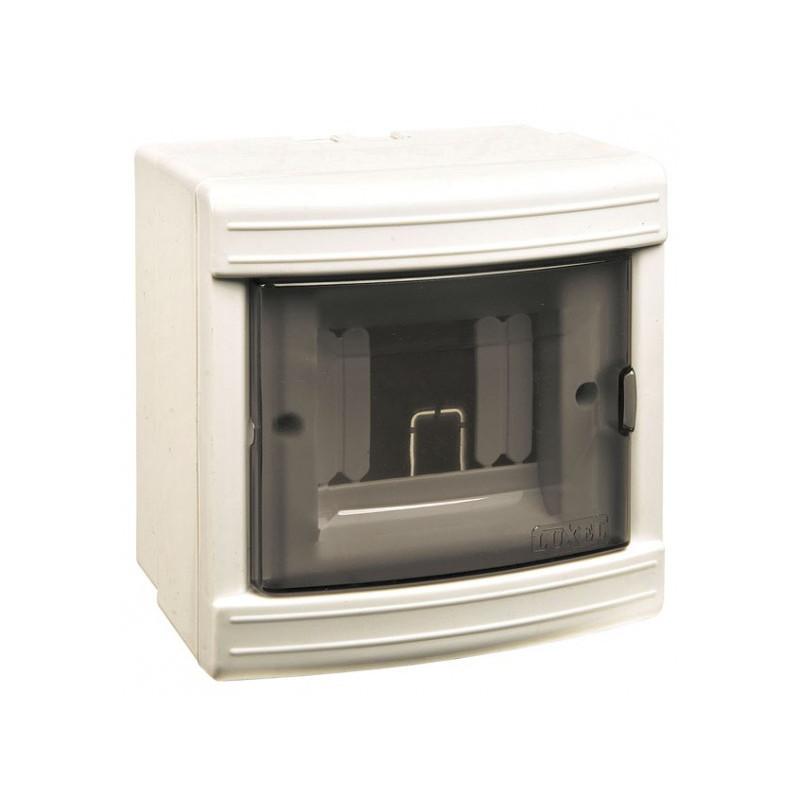 Короб на 4 автомата (наружный) белый