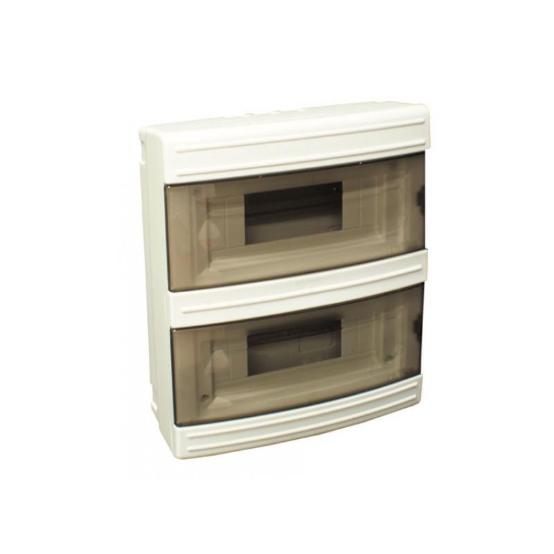 Короб на 16 автоматов (наружный) белый
