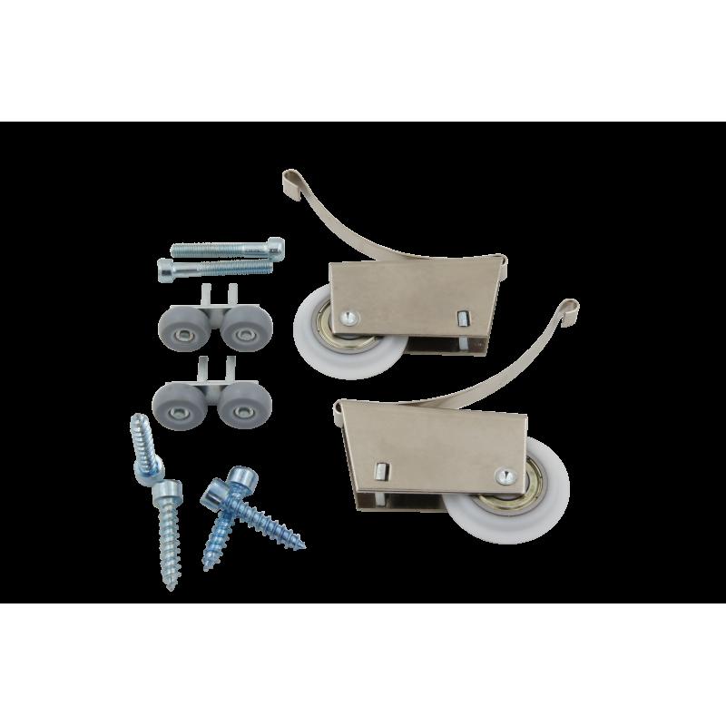 Ролик асимметричный (комплект на 1 дверь с креплением)