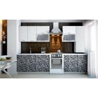 Рисунок на фасаде кухни – инновационное решение в интерьере