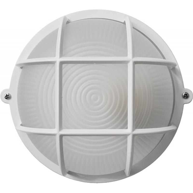Круг белый опаловый плафон с решеткой 12W з датчиком рухуПС-1051-11-1/1 (пластик/стекло) LED12W ДР