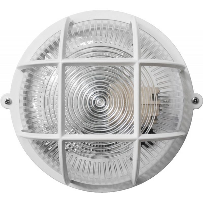 Круг белый прозрачный плафон с решеткой 12WПП-1051-10-1/6 (пластик/пластик) LED