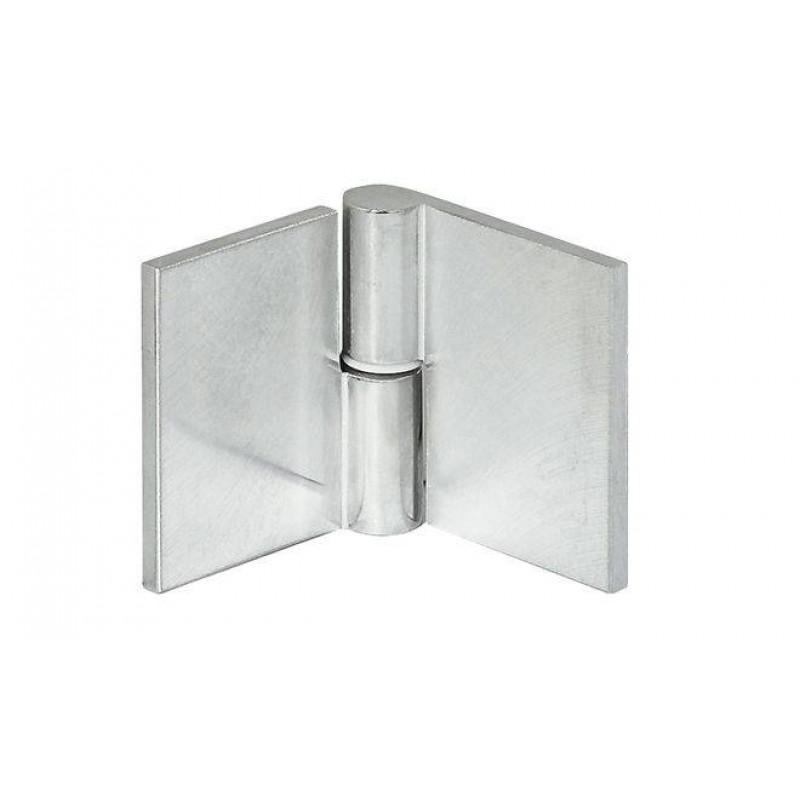 Hafele Петля для стекла левая 65х35 алюминий полированный